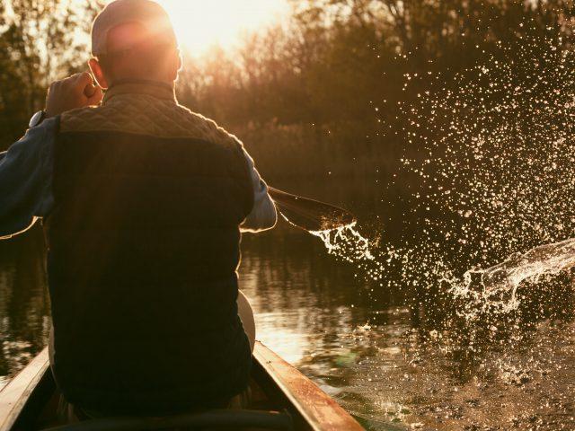 Canoe in the morning