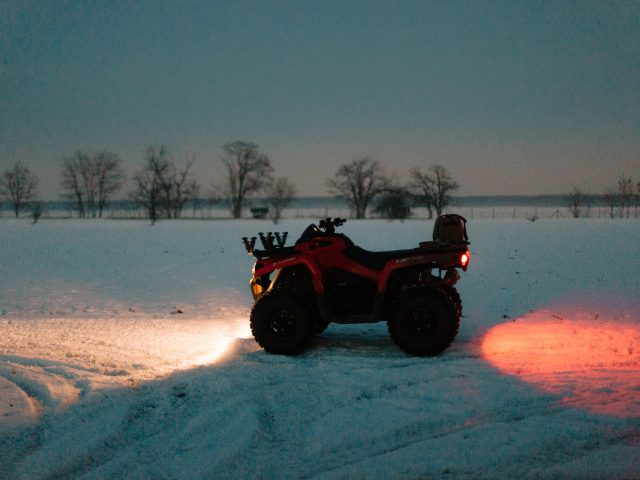 ATV in the snow