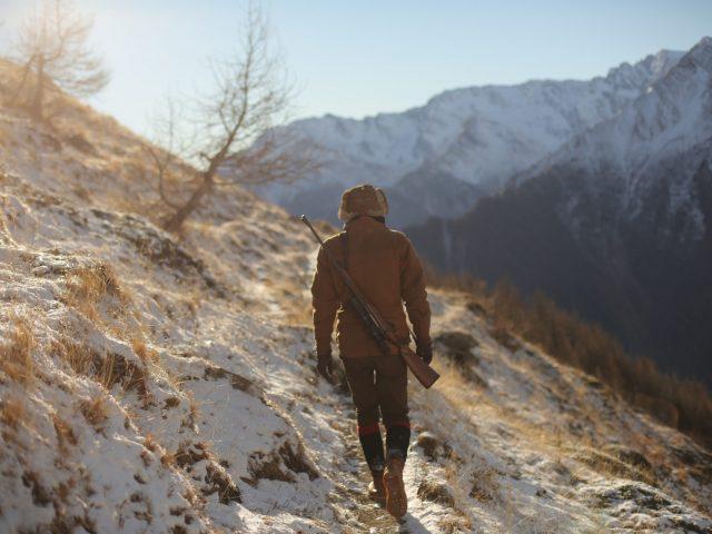 Hunter in the Alps