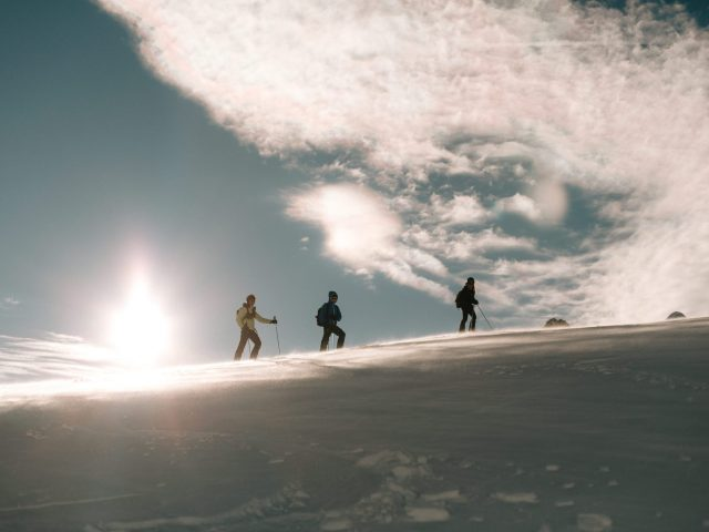 Skiers on the moutain top