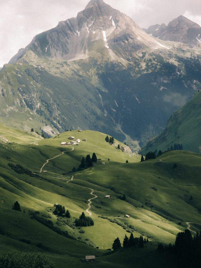 Mountain view in Lech
