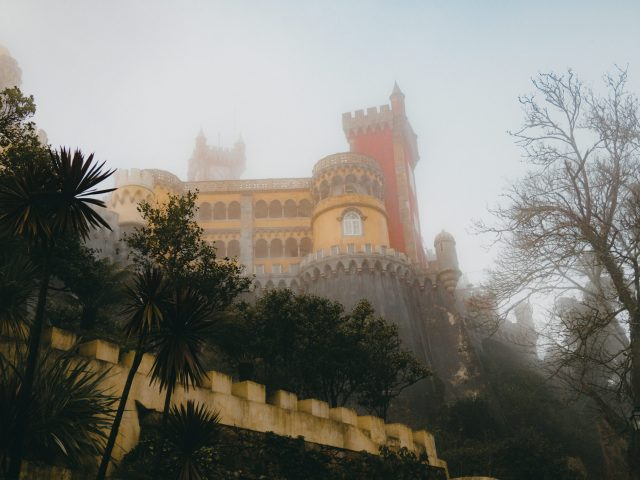 Pena Palace in the fog
