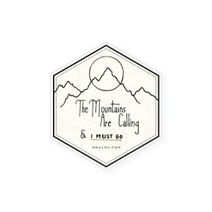 sticker The Mountains are calling