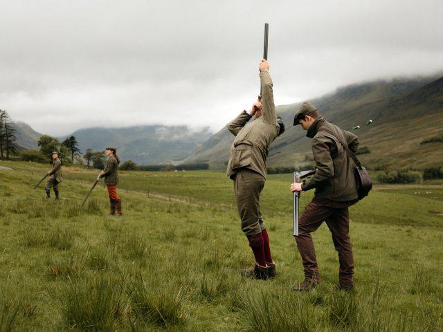 Driven hunt - high pheasants
