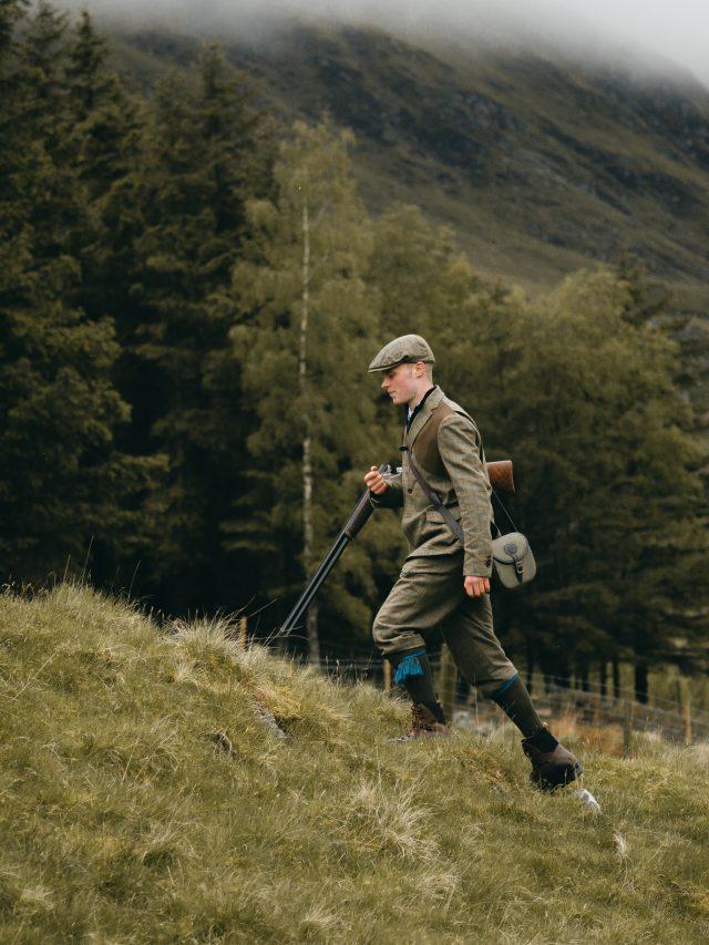 Driven hunt - hunter walking