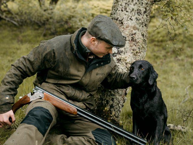 Hunter and labrador