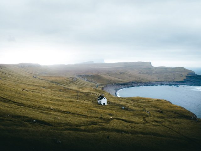 Isolate house in the Faroe Islands