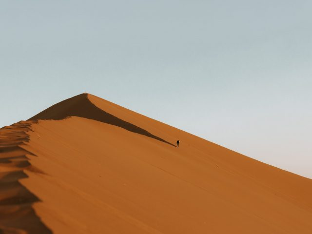 Lonely man on Big Daddy Dune