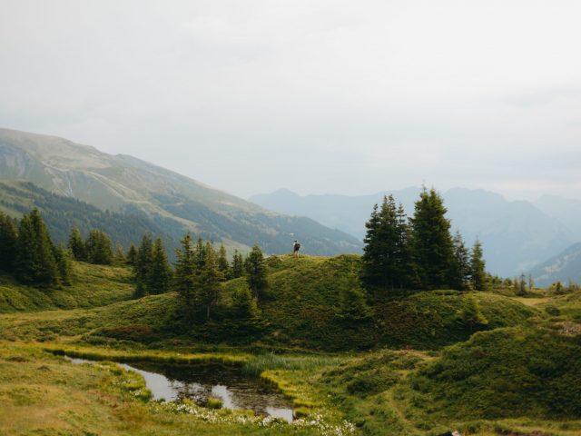 Mountain layers - lake
