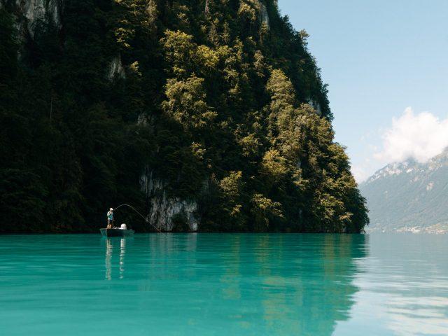 Fishing on Brienz Lake