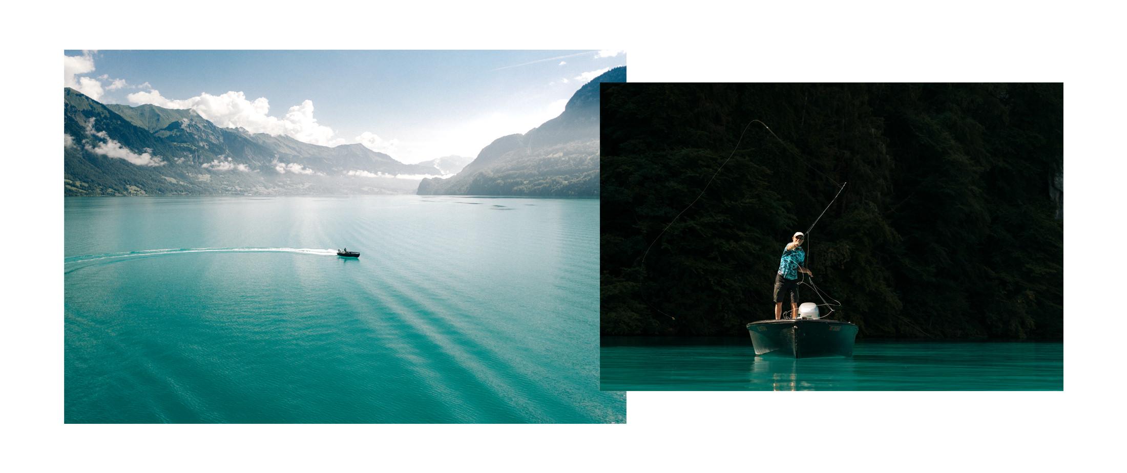 Brienz lake fisherman
