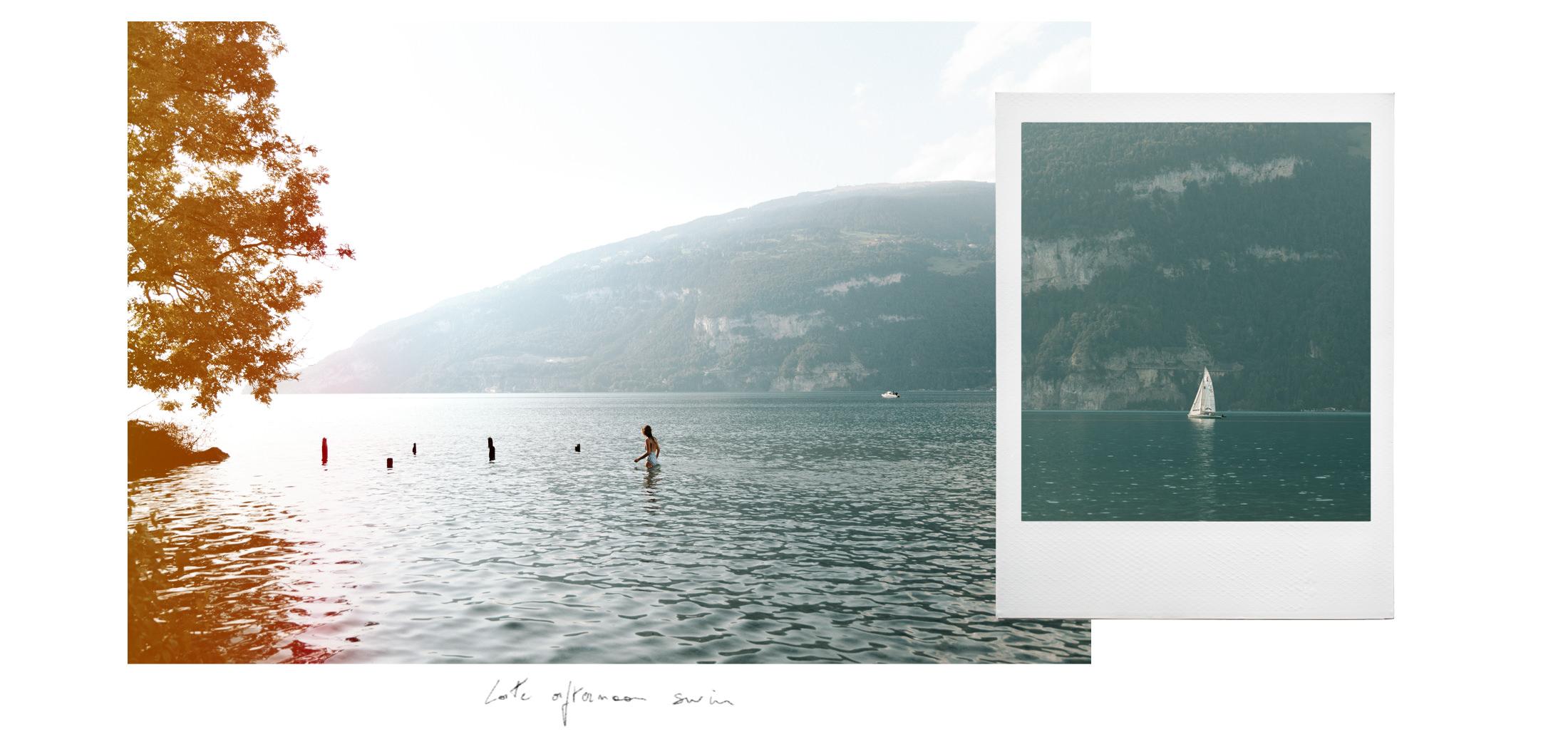 Swimming in the Thun lake