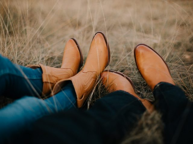 Couple with cowboy boots
