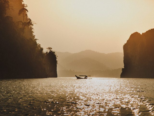Morning light on the Cheow Lan Lake
