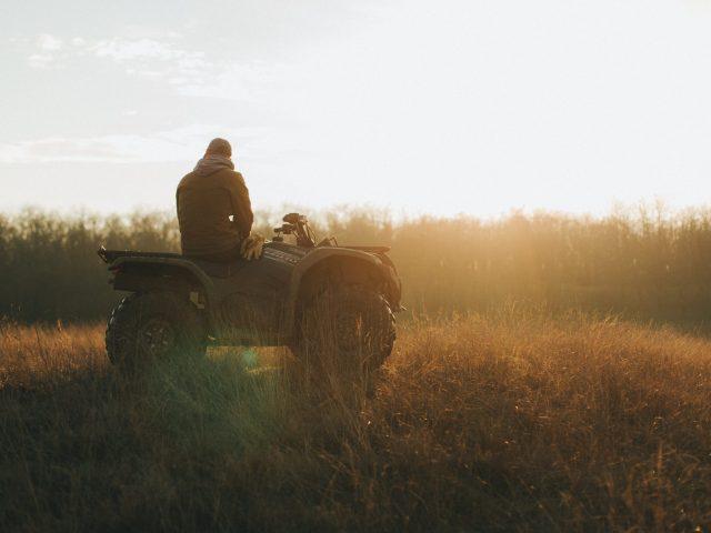Man on his ATV