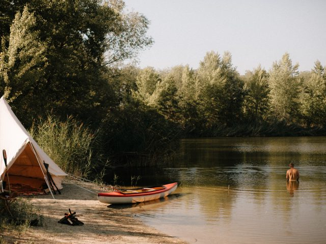 Camp by the river