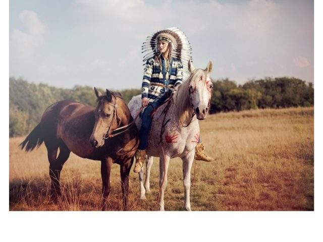 Native with horses