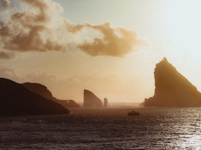 Sunset on the sea - Faroe Islands