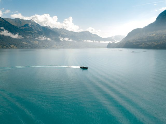 Boat on Brienz lake