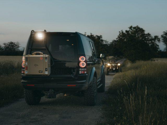 LR4 and ATV at dawn