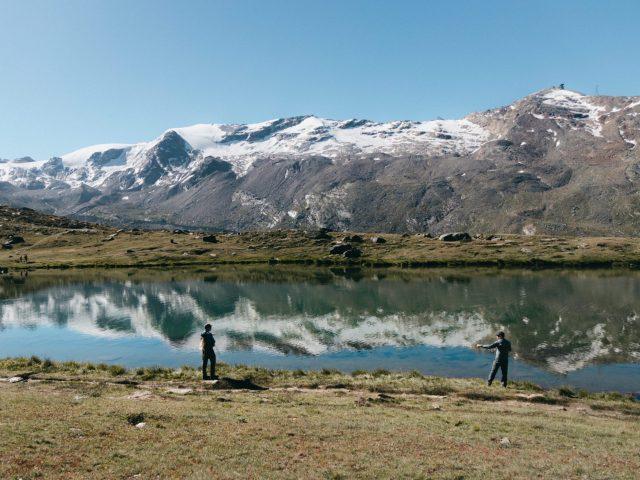 Mountain lake - fly fishing